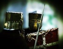 Combattimento medioevale Fotografie Stock Libere da Diritti