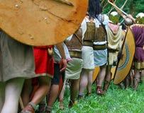 Combattimento romano incredibile contro Gauls Immagini Stock Libere da Diritti