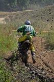 Combattimento trasversale del fango fotografia stock libera da diritti