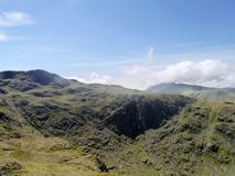 The Combe head seen from Rosthwaite Cam area Royalty Free Stock Photography