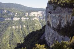 Combe Laval road in Vercors. France. Royalty Free Stock Photos