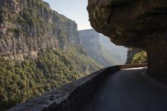 Combe Laval väg i Vercors france Royaltyfri Fotografi