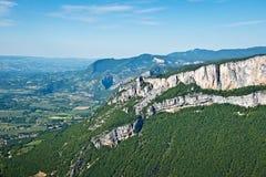 Сценарная долина Combe Laval в Vercors Стоковые Изображения RF