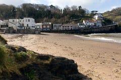 Combe Martin beach Devon England stock photography