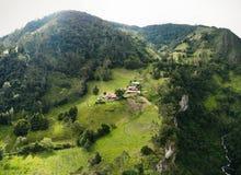 Combeima Canon, Colômbia imagens de stock royalty free