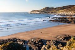 Spiaggia Devon di Combesgate Immagini Stock Libere da Diritti