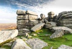 Combestone Tor, Dartmoor royalty free stock photography