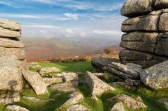 Combestone Tor, Dartmoor stock images