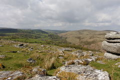 Combestone Tor,  Dartmoor National park , devon Royalty Free Stock Photography