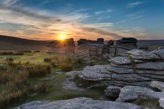 Combestone Tor on Dartmoor Stock Photo