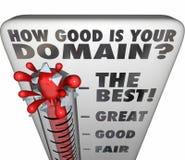 Combien bon est votre nom de site Web d'estimation de thermomètre de domaine illustration stock