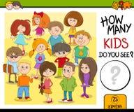 Combien d'enfants vous voient Image libre de droits