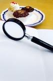 Combien de calories ? Concept d'information de nutrition Photos libres de droits
