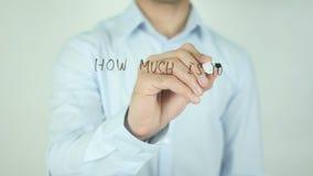Combien est-ce que coûte votre valeur de propriété ? , Écrivant sur l'écran transparent banque de vidéos
