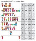Combien fabriqués à la main de hibou de nez d'amour d'ours jeu Images libres de droits