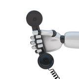 Combiné téléphonique à disposition de robot illustration de vecteur