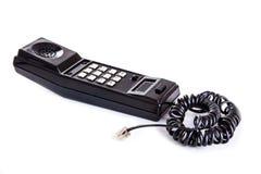 Combiné téléphonique noir de téléphone Photos stock