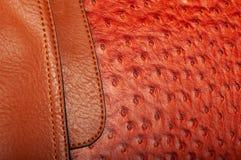 Combinação costurada de duas texturas do couro foto de stock royalty free