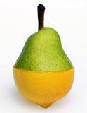 Combinação da pera e do limão Fotos de Stock Royalty Free