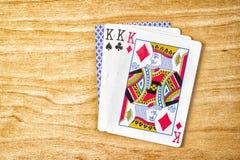 Combinação de cartões de jogo Fotografia de Stock Royalty Free