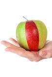 Combinação de fatia verde da maçã e do vermelho Imagens de Stock