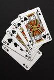 Combinação do póquer do resplendor real fotografia de stock royalty free