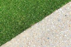Combinações de grama e de concreto Imagem de Stock Royalty Free