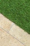 Combinações de grama e de pedra Imagem de Stock