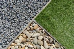 Combinações de grama e de pedras Imagens de Stock Royalty Free