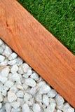 Combinações de imagem do vertical da grama, da madeira e das pedras Imagem de Stock Royalty Free