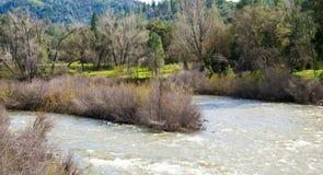 Combinación de flujos del río Imágenes de archivo libres de regalías