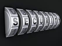 Combinación de la contraseña de la seguridad illlustration 3d Fotografía de archivo libre de regalías