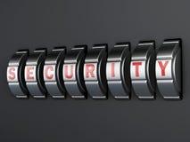 Combinación de la contraseña de la seguridad illlustration 3d Foto de archivo