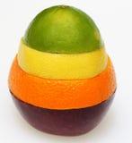 Combinación de la fruta cítrica y de la manzana fotos de archivo libres de regalías