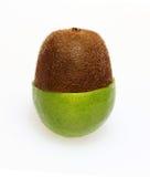 Combinación de la fruta de la cal y de kiwi fotografía de archivo libre de regalías