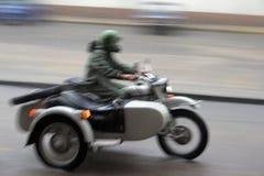 Combinación de la motocicleta Foto de archivo libre de regalías