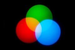 Combinación de los círculos de color Imágenes de archivo libres de regalías