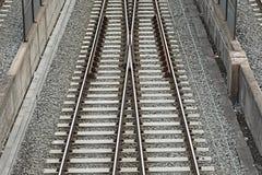 Combinación de pistas ferroviarias Imagen de archivo libre de regalías