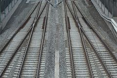 Combinación de pistas ferroviarias Imagen de archivo