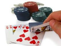Combinación desafortunada de póker. Imagenes de archivo