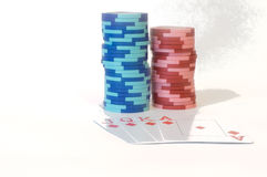 Combinaciones del póker Imágenes de archivo libres de regalías