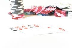Combinaciones del póker Imagen de archivo