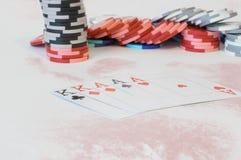 Combinaciones del póker Imagen de archivo libre de regalías