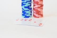 Combinaciones del póker Foto de archivo