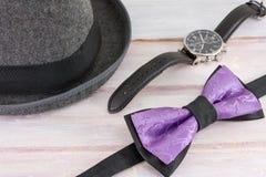 Combinaciones posibles de los accesorios masculinos Foto de archivo libre de regalías
