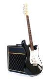 Combinado e guitarra Fotografia de Stock
