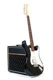 Combinado y guitarra Fotografía de archivo