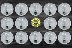 Combinaison d'ampoule Photos libres de droits