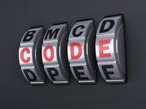 Combinaison de mot de passe de sécurité illlustration 3d Photographie stock libre de droits