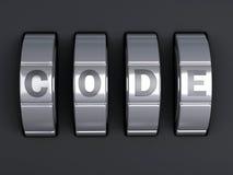 Combinaison de mot de passe de sécurité illlustration 3d Photographie stock